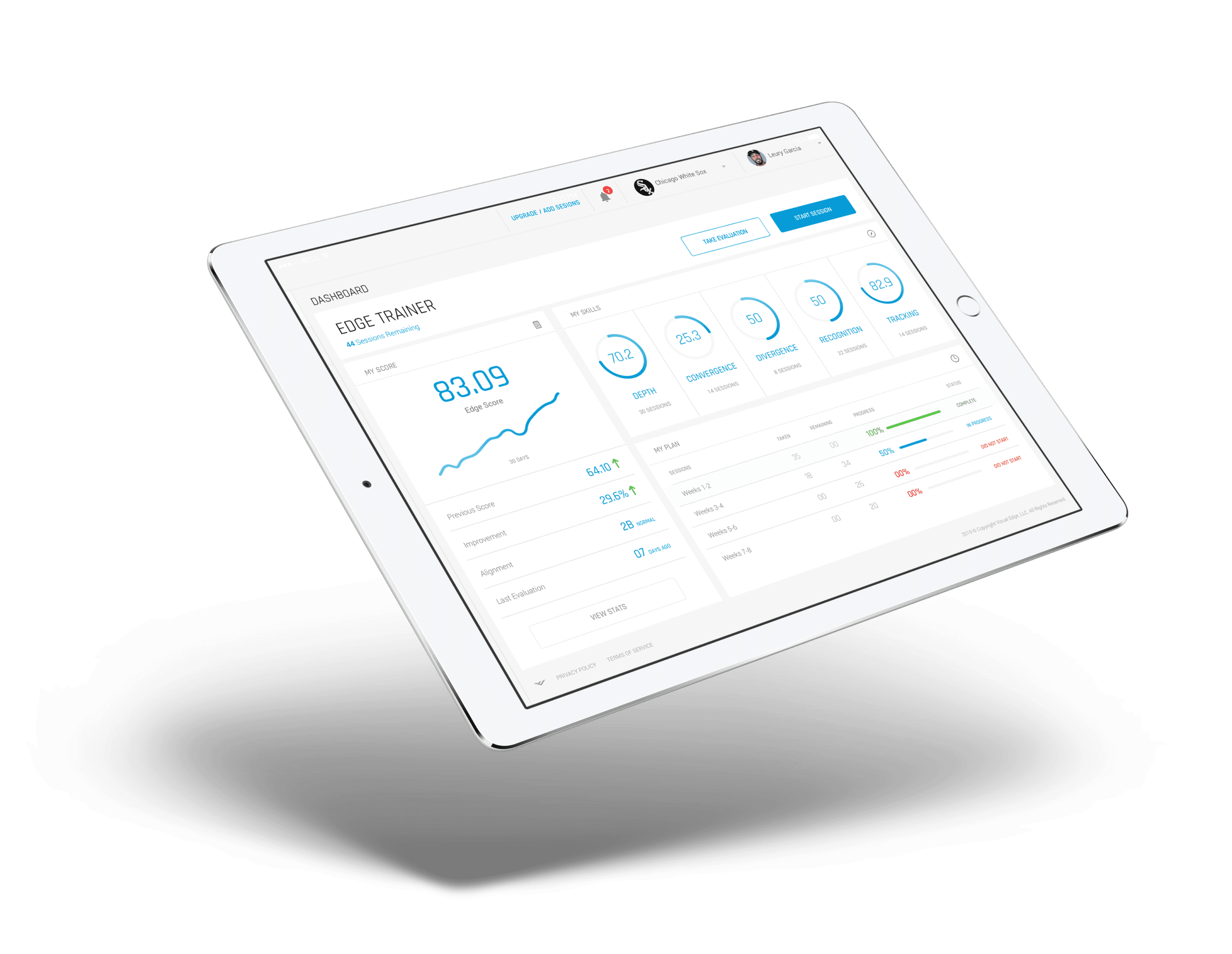 athlete dashboard ipad